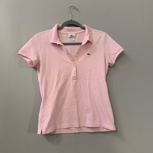 🛍 5/$25 Pink polo shirt with alligator emblem